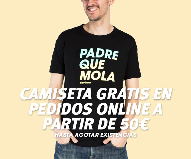 Camiseta gratis en pedidos online a partir de 50 EUROS hasta agotar existencias