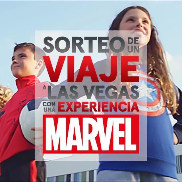 Sorteo de un viaje a Las Vegas con una experiencia Marvel