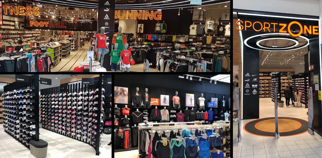 <p>A Sport Zone oferece mais de 300 marcas de artigos desportivos para atletas, de marcas de renome internacional como a Nike, Adidas, Reebok, Puma, NB, ... e de marcas próprias Doone, Outpace, Ancor e Team Quest, posicionado num nível de preços competitivos, para dar aos clientes a oportunidade de combinar artigos, adaptando-os ao seu estilo de vida.</p>                             <p>As lojas têm layouts ajustáveis, segmentação enfocada nos desportos chave - corrida, futebol e fitness - uma equipa de especialistas em desporto, merchandising visualmente atraente e comunicação digitalmente dinâmica, tudo focado em proporcionar aos clientes a melhor experiência de compra.</p>